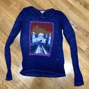 Lucky Brand long sleeve T in royal blue